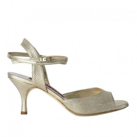 туфли для танго на низком каблуке