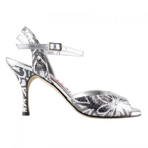 Tangolera, туфли для аргентинского танго, серебристые туфли для танго